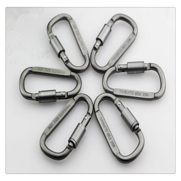 Portachiavi Moschettoni Mini Moschettone da Campeggio in Alluminio con Ganci a Molla per Escursionismo Allaperto