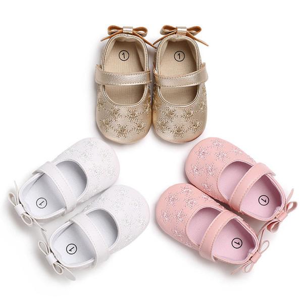 201 neue Marke grenzt Prinzessin weiche Sohle Baby Mädchen Schuhe Anti Rutsch Leder Kleinkind Neugeborenen 0-18 M