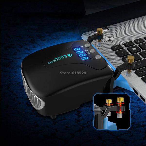 5V USB Powered Laptop Refroidisseur Ventilateur d'aspiration pour ordinateur portable 14 15.6 17 avec Auto-Temp Détection Affichage Unique Clamp Design