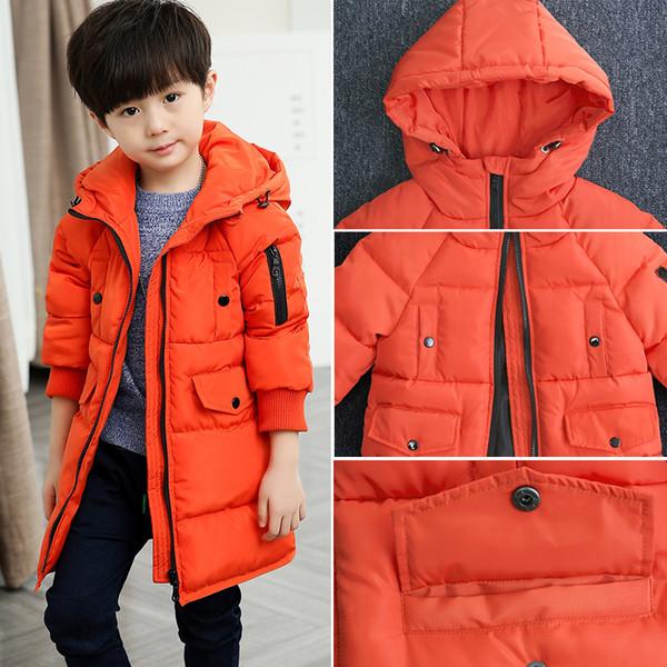 Cheap Jackets for Kids Warm Coats 2018 Winter Boys Outerwear Children's Jacket Thicken Boy Zipper Winter Coat Tops Snowsuits 12