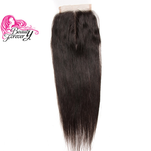 Beauty Forever Brazilian Hair Straight Human Hair Closure Unprocessed 4*4 Swiss Lace Closure Natural Color Top Hair Extension High Quality