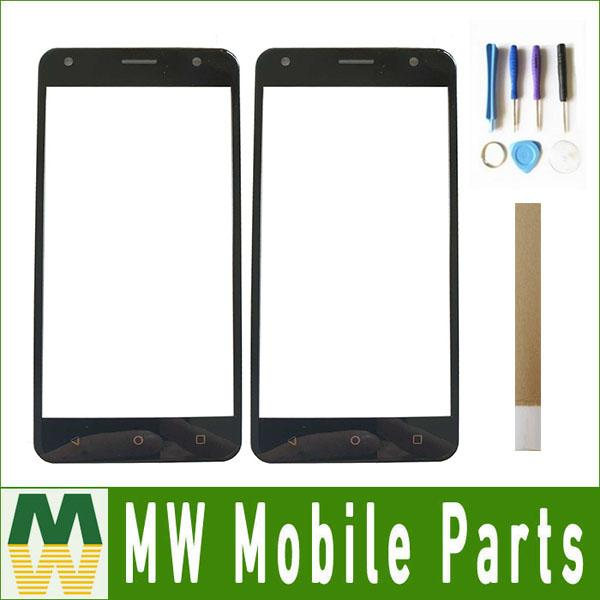 For DEXP Ixion ES850 Iron Touch Screen Digitizer Front Glass Assembly Black Color With Tape and tools