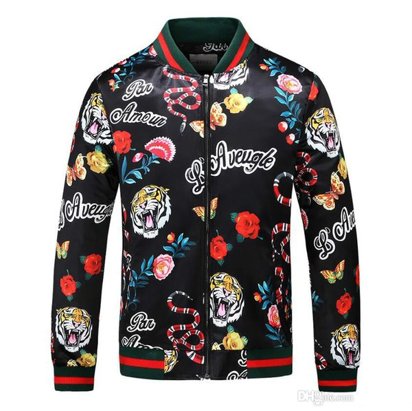 2018 Luxury Designer Casual Outdoor Tiger Jungle Jacket Autumn Summer Men Women Luxury Zipper Sports Skin Coat Size M-3XL