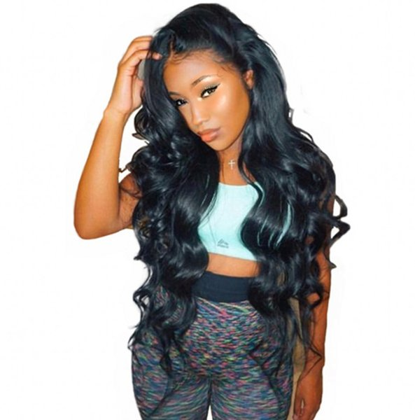 Body Wave Lace Front Human Hair Wigs Bleached Knots Virgin Indian Hair Glueless Full Lace Wigs with Baby Hair Ping