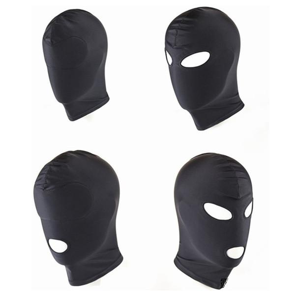 Neue Ankunft Erwachsene Spiele Fetisch Hood Maske BDSM Bondage Schwarz Spandex Maske Sexspielzeug Für Paare 4 Spezifikationen Zu Wählen