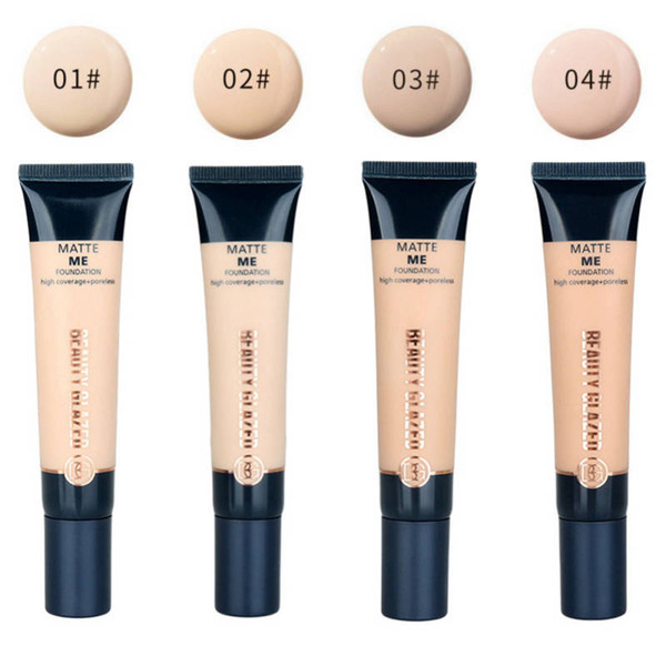 Drop ship beauty glazed 4 Color Concealer Liquid Foundation Fluid Long-lasting Concealer Whitening And Nutritious Moisturizer