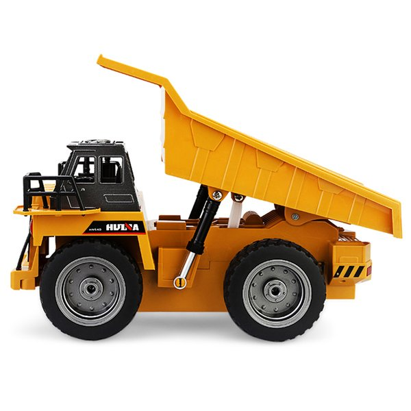 New Design 1 :18 2 .4g 6ch Remote Control Alloy Dump Truck Rc Truck Big Dump Truck Engineering Vehicles Loaded Sand Car Rc Toy
