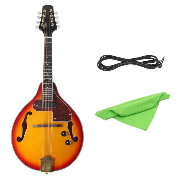 A Type Beech Electric Box Acoustic-Electric Mandolin Piano 8 String Guitar Musical Stringed Instruments Lover Gift
