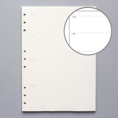 B5 week plan 9 holes 45 sheets of paper