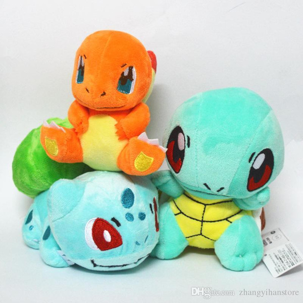 best selling 2018 Brand New 3Pcs Lot Plush Toy Bulbasaur Charmander Squirtle Plush Doll Figure Collectible