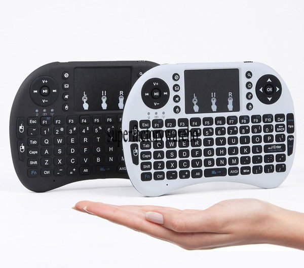i8 Mini Wireless Keyboard 2.4GHz English Arabic Russian Hebrew QWERTY Keyboard with Touchpad For Android TV Box Laptop