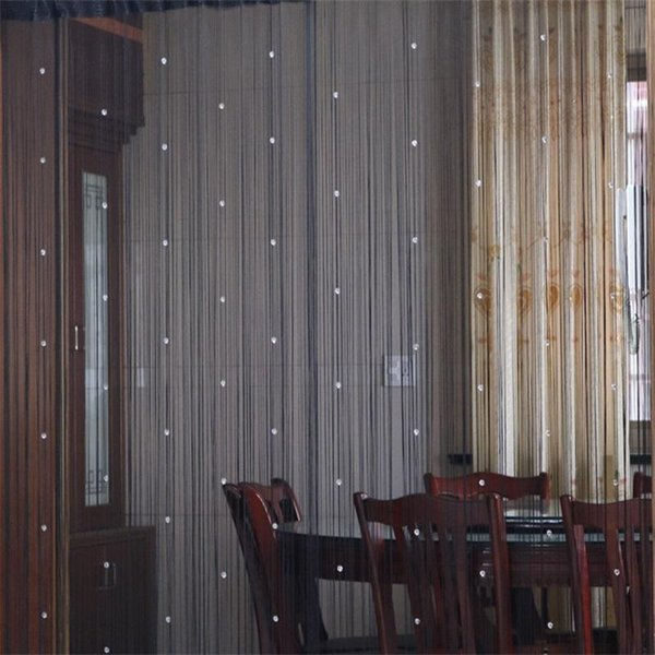 2019 Luxury Partition Room Window Curtains Crystal Beads Home Decoration Hanging Curtain Novelty Fashion New Design Blackout Colorful Style Zz From