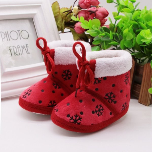 2018 Hot Baby Girl Shoes Children Infant Boys Girls Winter Autumn Thick Warm Boots Fashion ice Flower kids Shoes S2