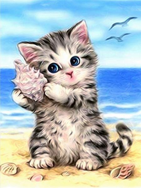 2020 5d Diamond Embroidery Diy Diamond Mosaic Cats Picture Animals