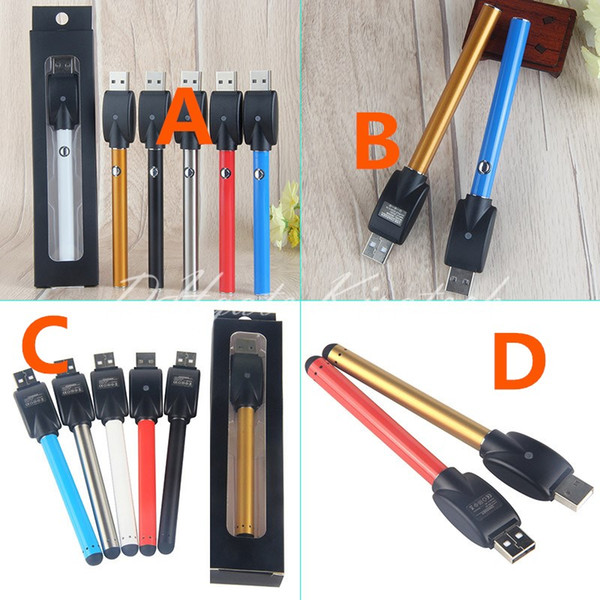 Bud Touch Vape Battery 510 Button Pens Ecig Vaporizer ECigarette Vapes Pen Come With 510 USB Charger For CE3 A3 Cartridge Tank