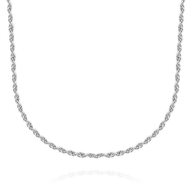 Collana di gioielli in acciaio inossidabile 100% per uomo / donna con catena di torsione 2 mm 18/20/22/24/28 pollici