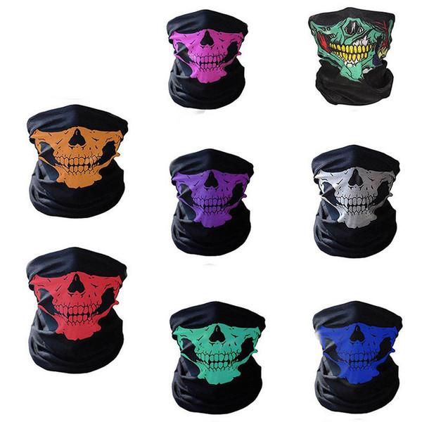Compre Máscaras Faciales Del Cráneo De Halloween Esqueleto Magic ...