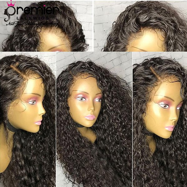 Glueless Full Lace Wigs 200% Density Pre-plucked Perimeter Medium Brown Lace Medium Cap Size Brazilian Remy Hairs With Babyhair