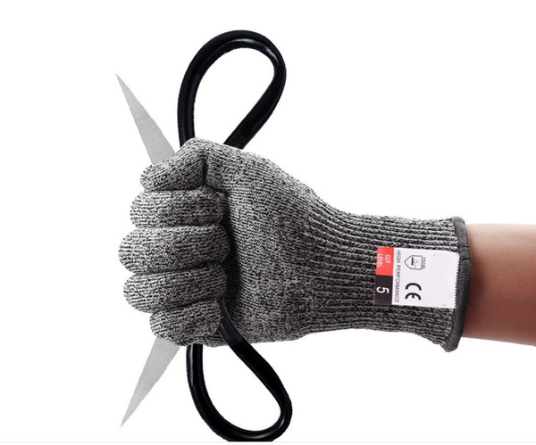 200pcs Cut-resistant Anti-Knife Glove Chain Saw Safty Gloves Level 5 Protection Hunting Survival Gear Travel Tool Camping Size L XL