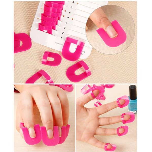 26PCS/pack Professional Nail Art Manicure Stickers Tips Finger Cover Polish Shield Protector Plastic Case Salon Tools Set MY313