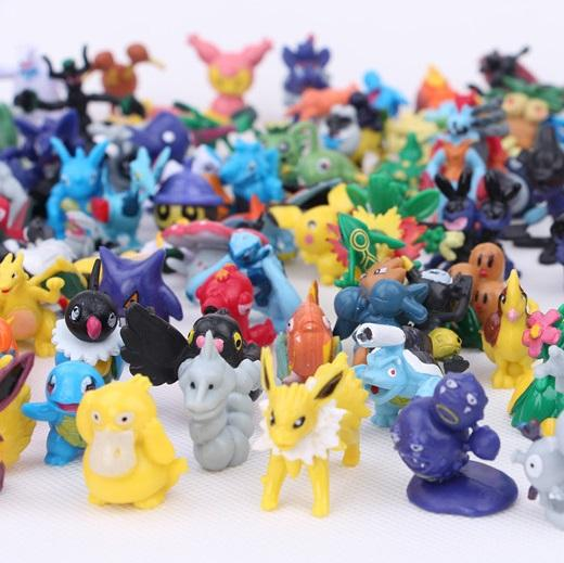 Japanese figures set 24pcs New monster pikachu charizard figurine figuras doll lot for kids party supply decor 144 style