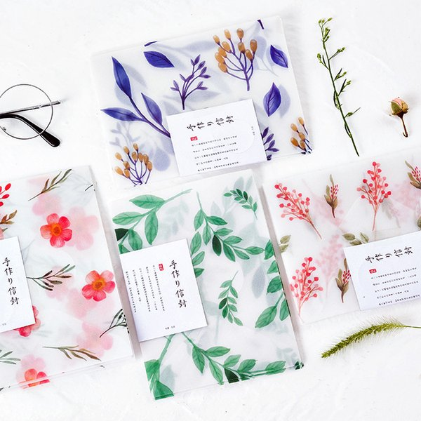 2019 Pack Designer Kawaii Litmus Paper Leaf Flower Envelope Transparent For Wedding Card Scrapbooking Gift School Supply Sl1324 From Kingflower