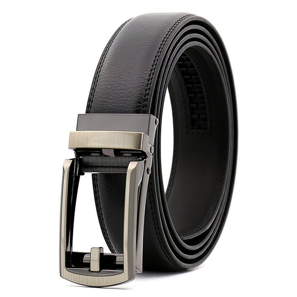 KAWEIDA New hollow Double layer Automatic buckle leather belt men's genuine leather belt casual belts for men 110cm-130