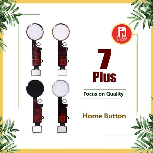 Para iphone 7 plus botão home menu flex cap chave completa substituição da peça de reposição de ouro preto rose gold silver para apple 7 p