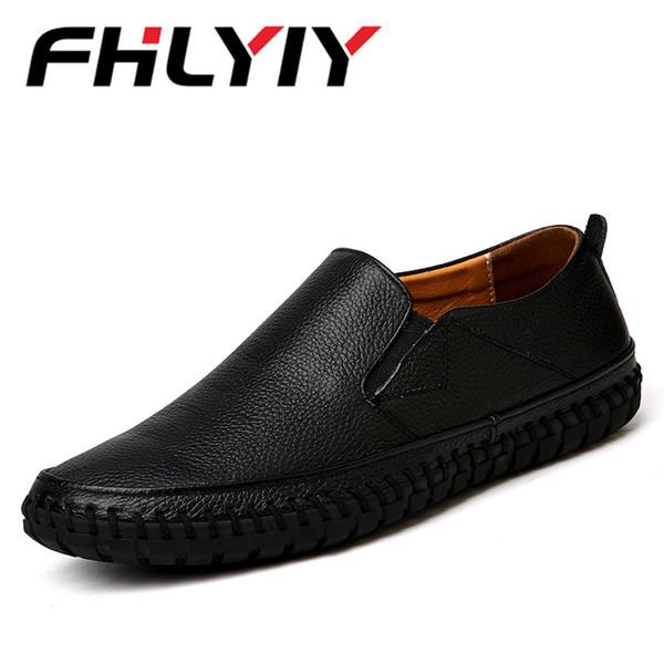 Compre Nuevos Cómodos Genuino Zapatos De Cuero Genuino Cómodos Para Hombres De 79f4ee