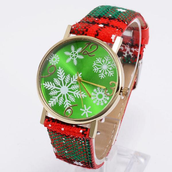 Fashion popular women ladies snowflake reindeer christmas gift watch wholesale ladies girls colorful design dress quartz watches