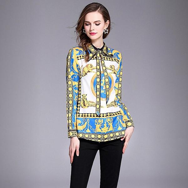 Acquista Camicia Elegante Da Donna Elegante Con Collo Alto E Maniche Lunghe A Maniche Lunghe Camicetta Elegante Da Donna A $26.14 Dal Sinofashion |