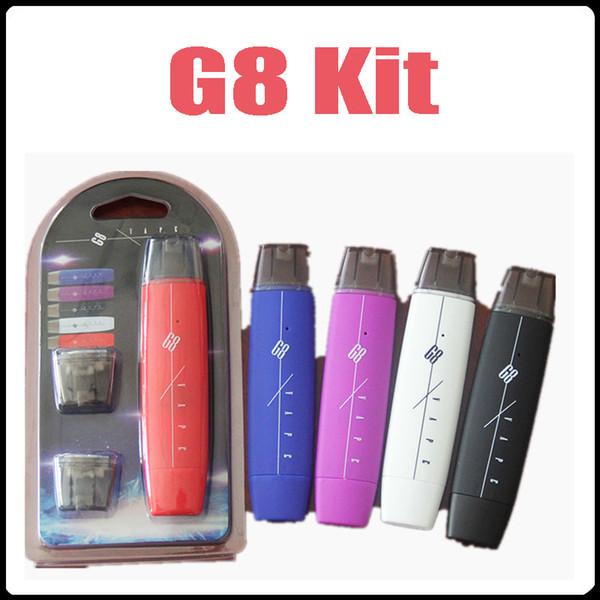 Newest G8 Smoking Starter Kit 300mAh Flat Battery Mini Vape Pen With USB Charger 2 Disposable Cartridge Pod Blister Package Vaporizer