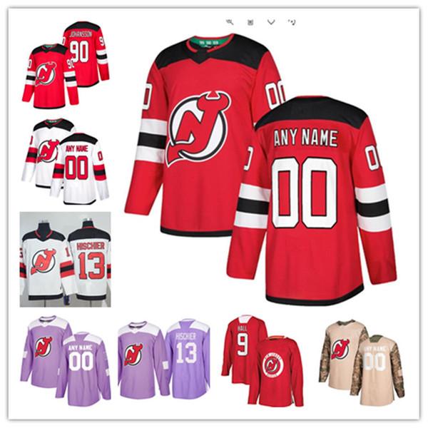 newest 7151d bcfee 2019 Custom New Jersey Devils Jersey Jesper Bratt Damon Severson Will  Butcher Sami Vatanen Brian Boyle Martin Brodeur Cory Schneider Devils Jerse  From ...