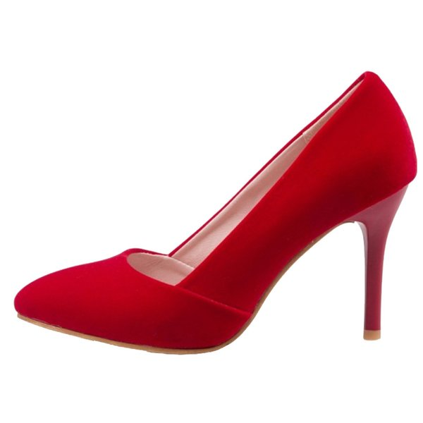SJJH 2018 Fashion Women Stiletto Heel Pumps with Pointed Toe and Suede Leather Material Elegant Shoes with Large Size Available A025