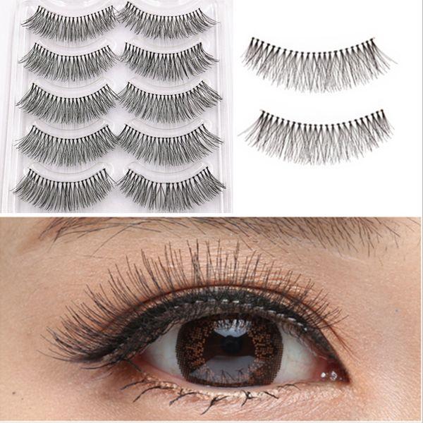 100% Silk Human Hair Full Strip Eyelash Reusable Natural Soft Fake Eye Lashes Artificial human hair natural eyelashes extension false GR253