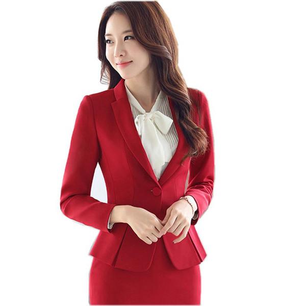 Señoras Blazer Negro Feminino Plus Size 3XL Chaqueta Formal Mujeres Blaser 2017 Mujeres Blue Suit Office Ladies