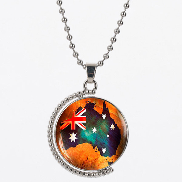 CAN12 For NLNL Map of the USA resin matrtial 925 silver chain orange color send for women necklace gift