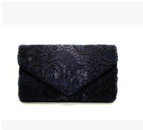black lace handbag