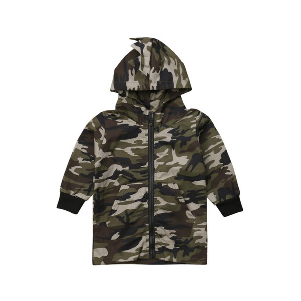 pudcoco Toddler Kid Baby Boy Camouflage Dinosaur Coat Tops Hooded Late Autumn Outwear baby boy autumn winter warm Sweatshirts