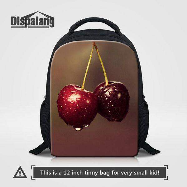 12 Inch Small School Bag Backpack Supplies Pretty Fruit Strawberry Printing Girls Bookbag Cute Ballet Rucksack Best Gift Kindergarten Rugtas