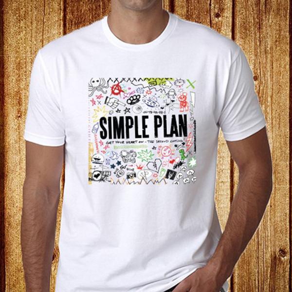 Neue SIMPLE PLAN Punk Rock Band Album Logo Herren Weiß T-Shirt Größe S-3XLTshirt Männer 2018 Neu