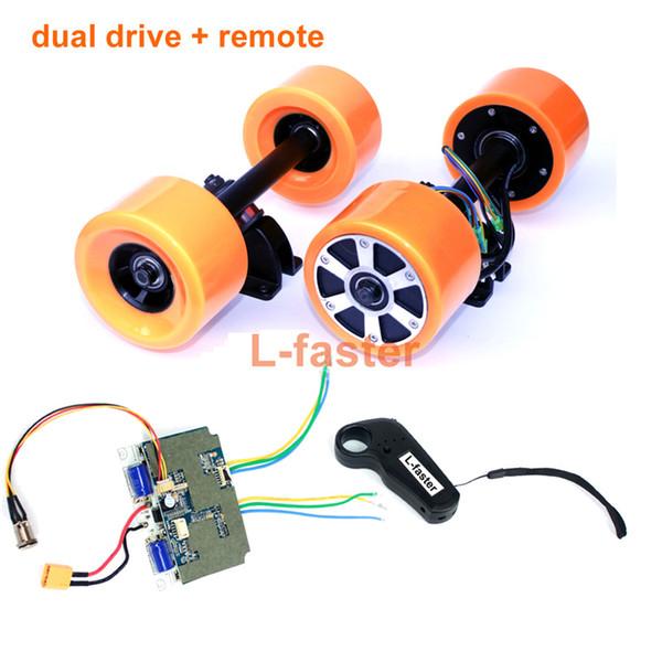 Electronic Longboard Hub Motor Kit Skateboard Brushless Motor Wheel With Truck Electric Board Dual Motor Drive Remote Controller