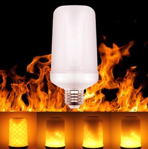 top popular LED Flame Effect Fire Light Bulbs E27 2835SMD 8W 3 modes Flickering Emulation Decorative Flame Lamps For Christmas Halloween Decoration 2020