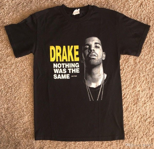 Mens 2013 Nothing Was The Same Tour Double Sided Graphic T-shirt SZ Short Sleeve Hip Hop Tee T Shirt top tee
