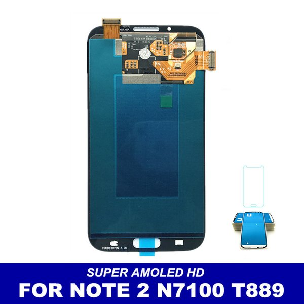 LCD AMOLED Sostituisci Per Samsung Galaxy Note II Note2 N7100 N7105 T889 i317 i605 L900 LCD Display Touch Screen Digitizer Assembly
