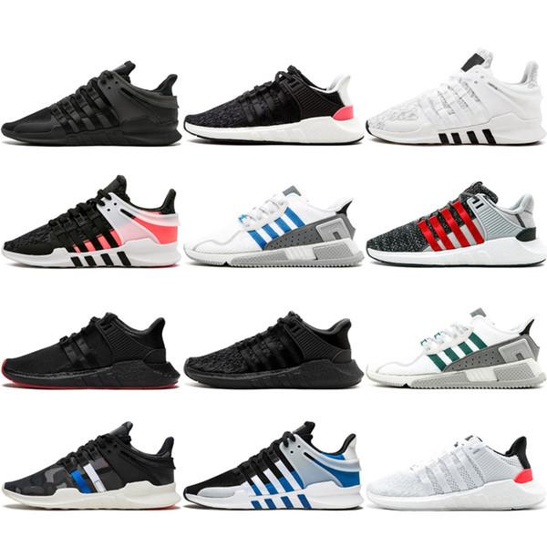 Beste Qualität EQT Unterstützung Mens Runner Schuhe Schwarz Weiß Blau GS Primeknit Grau Core Sneakers Sportschuhe Freizeitschuhe Trainer