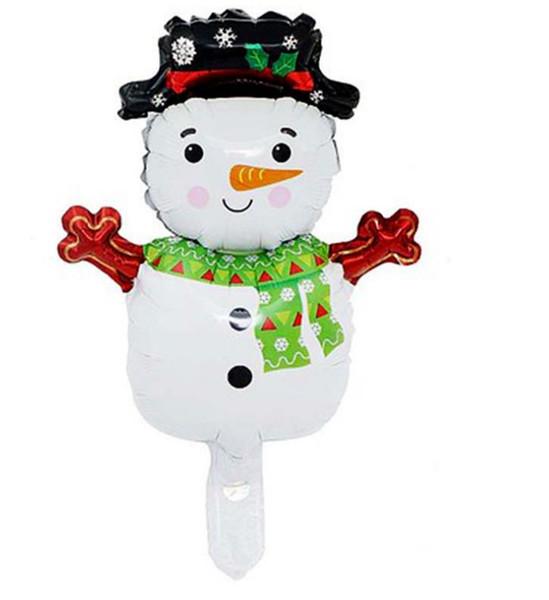 Qualité joyeux Noël Ballons Mini Bonhomme De Neige Père Noël Feuille Ballons Gonflable Noël Ballons À Air Des Fournitures De Fête D'événement