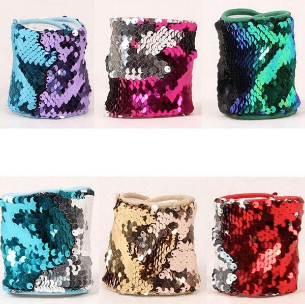 2017 neue paillettenarmband magische pailletten armband armreif personalisierte glitter armreif manschette armband frauen charme geschenke