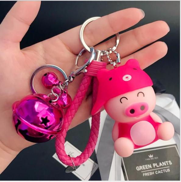 2018 Cartoon toy male and female Cute Panda bag woven key chain ring creative birthday gift