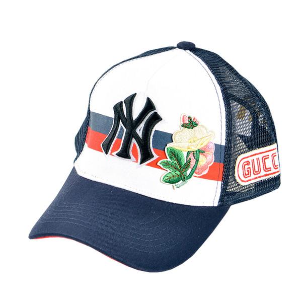 5768cab9c19 2018 Designer Baseball Cap NY Embroidery Letter Sun Hats Adjustable  Snapback Hip Hop Sheer Net Hat Summer Luxury Men Women Caps Wholesale